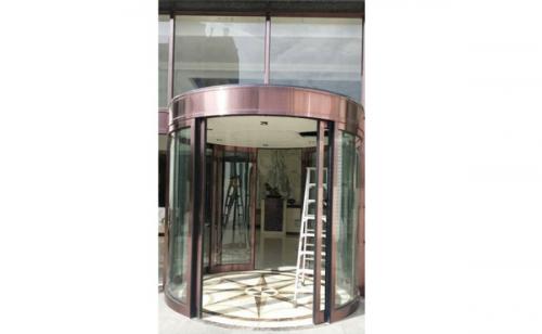 设计安装自动弧形门